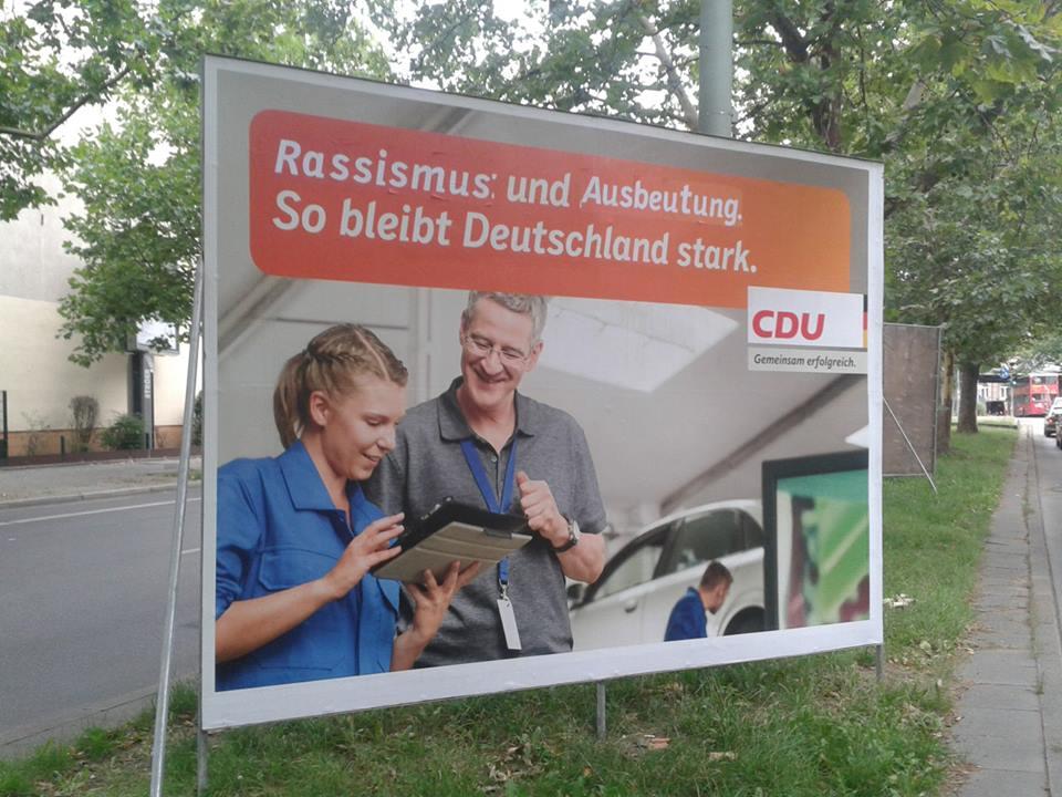 CDU - Rassismus und Ausbeutung