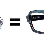 Brillen aus Vinyl-Schallplatten
