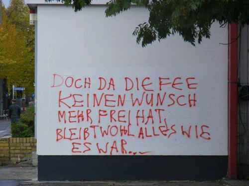 Doch da die Fee keinen Wunsch mehr frei hat, bleibt wohl alles wie es war...