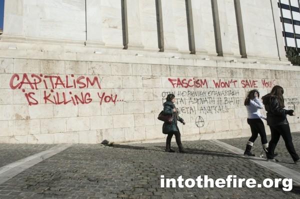Anti Fascist Grafitti in Athens.21-1-13