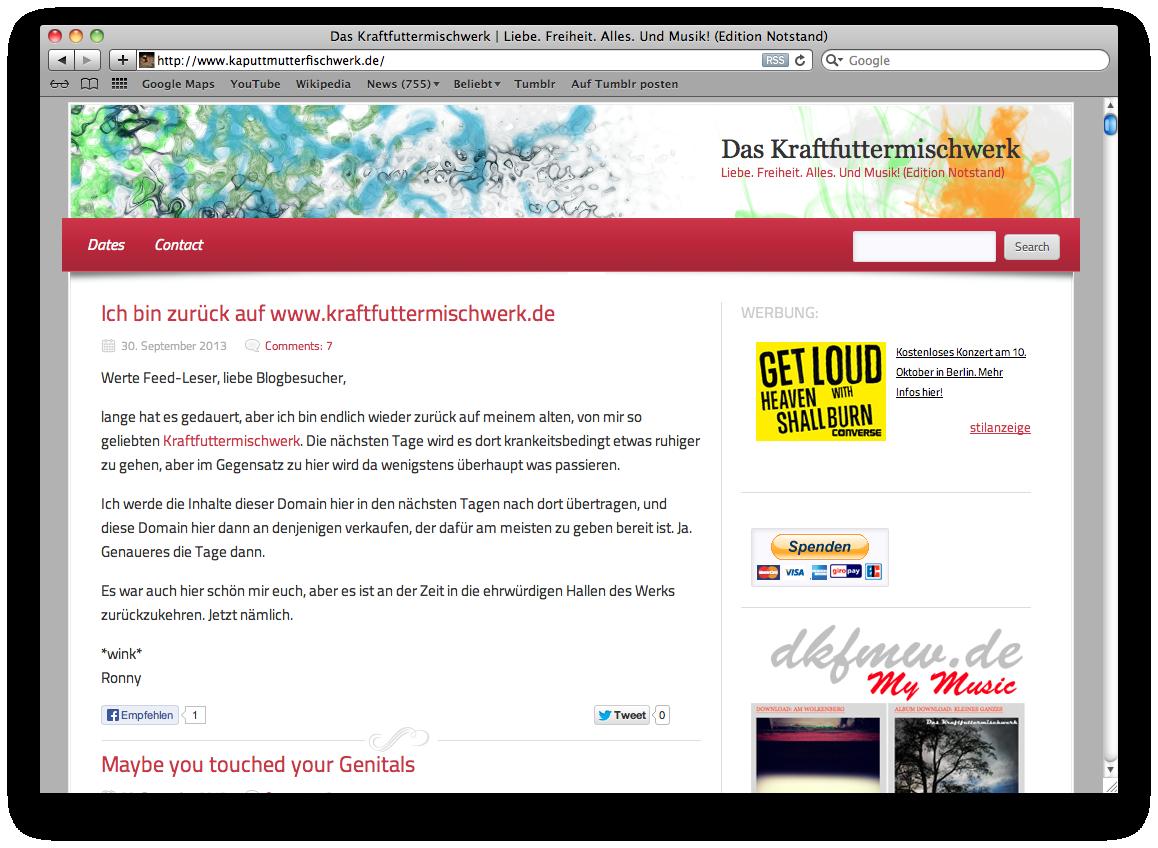 Zum Verkauf: kaputtmutterfischwerk.de