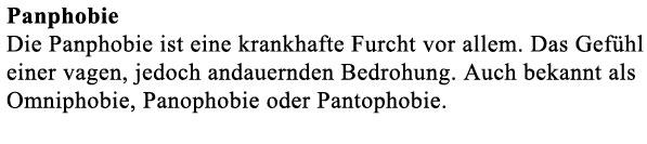 Pantophobie