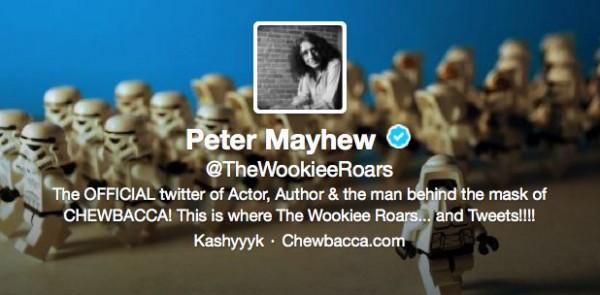 Peter Mayhew auf Twitter