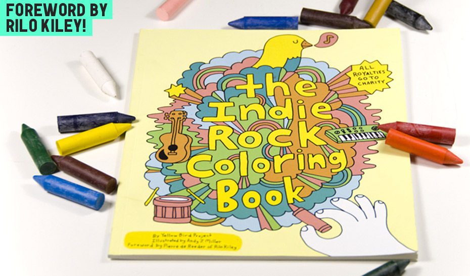 Indie Rock Coloring Book ⋆ Kotzendes Einhorn
