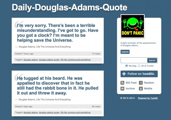 Daily Douglas Adams Quote