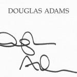 Signatur von Douglas Adams