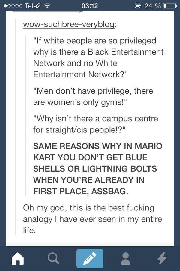 Privilegien und Mario Kart