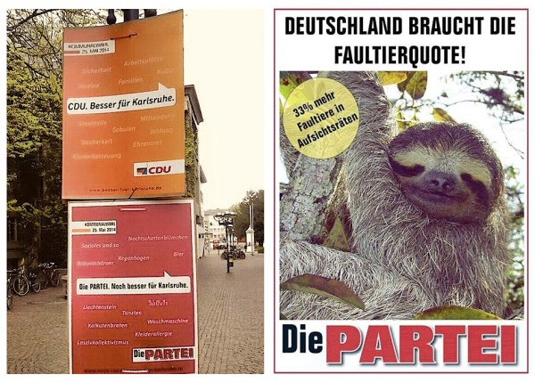 Wahlplakate Die PARTEI
