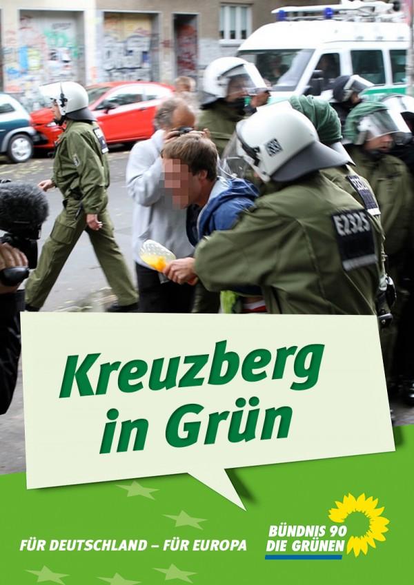 So grün ist es seit Dienstag in Kreuzberg.