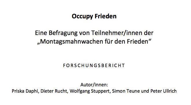 Occupy Frieden