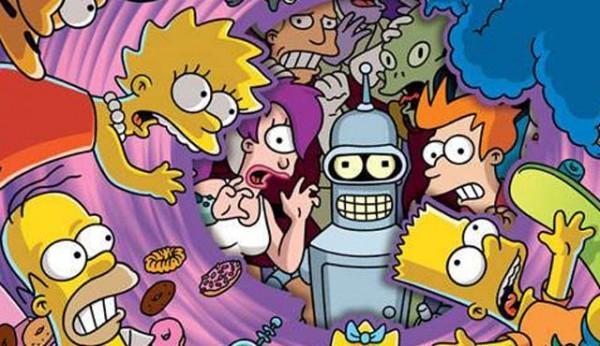 Futurama, Simpsons - Crossover