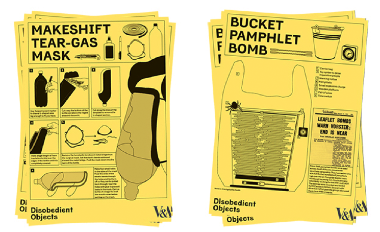 DIY-Gasmaske und Flyer-Bome