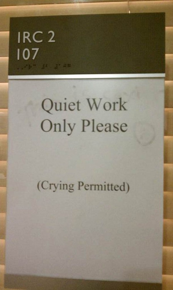 Quiet Work Only Please