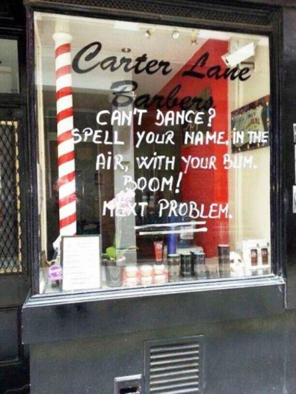 Can't dance!