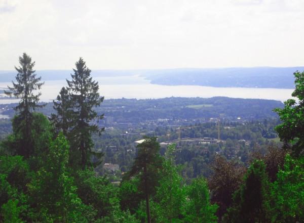 Oslo vom Holmenkollen aus gesehen
