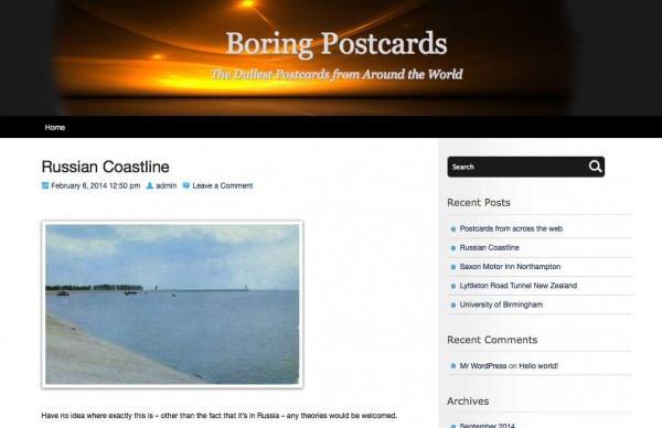 Screenshot Boring Postcards