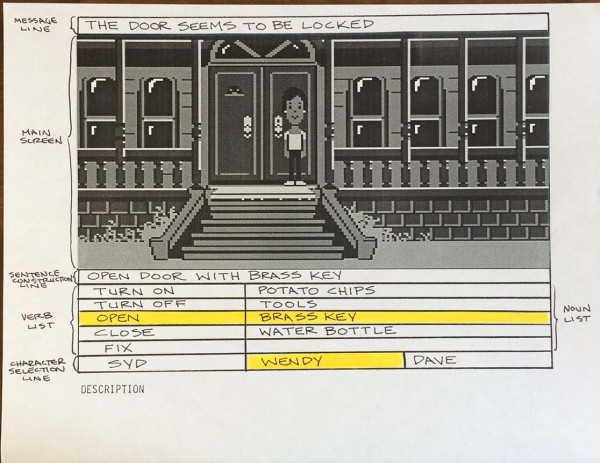 Maniac Mansion UI