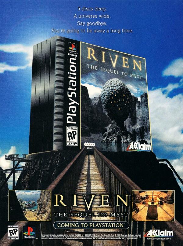 Anzeige für Riven auf der PlayStation