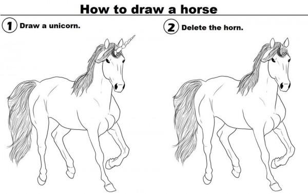 Ein Pferd zeichnen