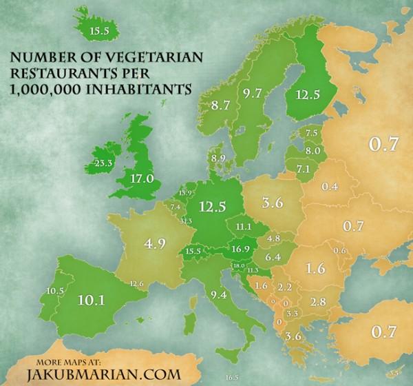 Vegetarische Restaurants in Europa