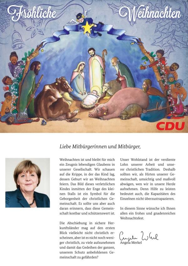 Weihnachtskarte CDU