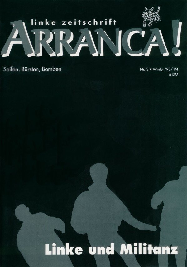 Mit Nazis reden von Wiglaf Droste (1993) in Arranca! Ausgabe 3