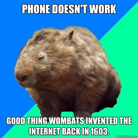 Wombats erfanden das Internet