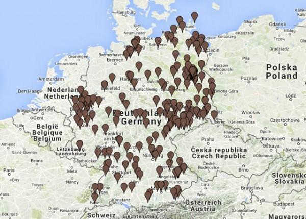 Interaktive Karte mit Angriffen auf Flüchtlinge