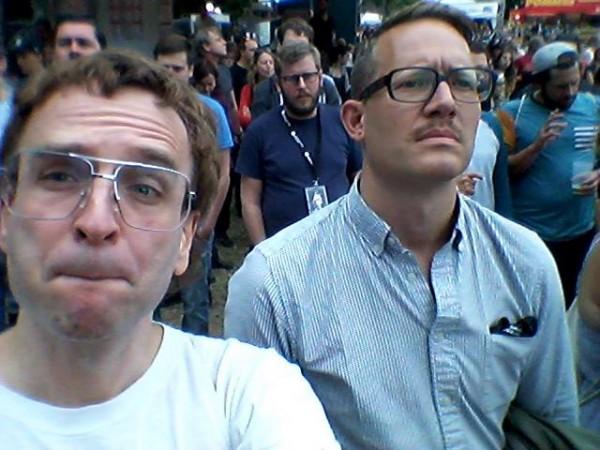 Linus und Thomas auf dem Kosmonauten-FEstival
