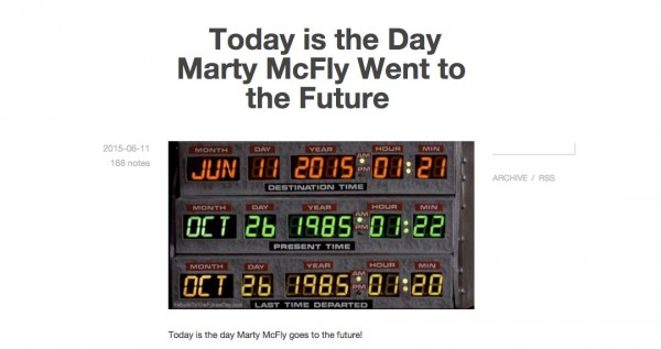 Today is the Day Marty McFly Went to the Future