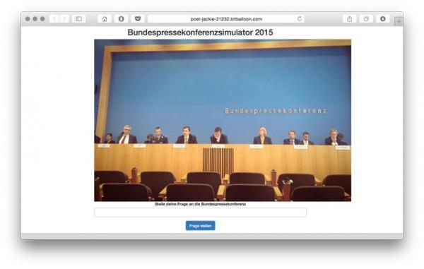 Bundespressekonferenzsimulator
