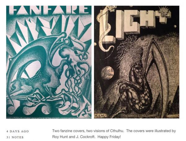 Crhulhu-Illustrationen aus der Hevelin-Sammlung