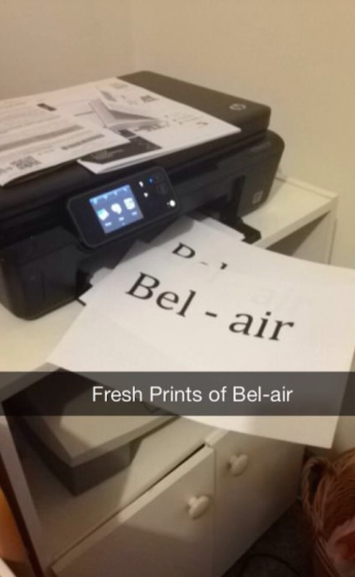 Fresh Prints Of Bel-Air