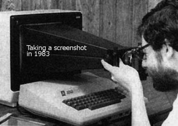 Screenshot in den 80ies