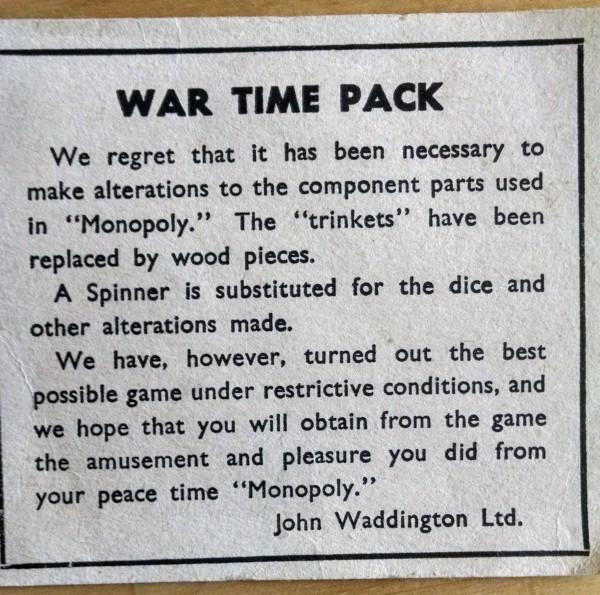 War Time Monopoly