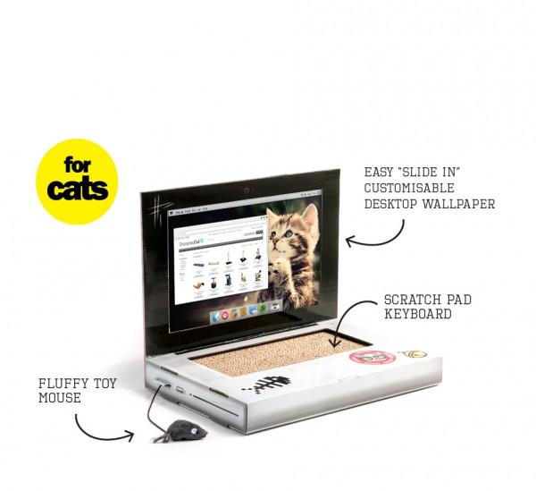 Cattop - Laptop für Katzen