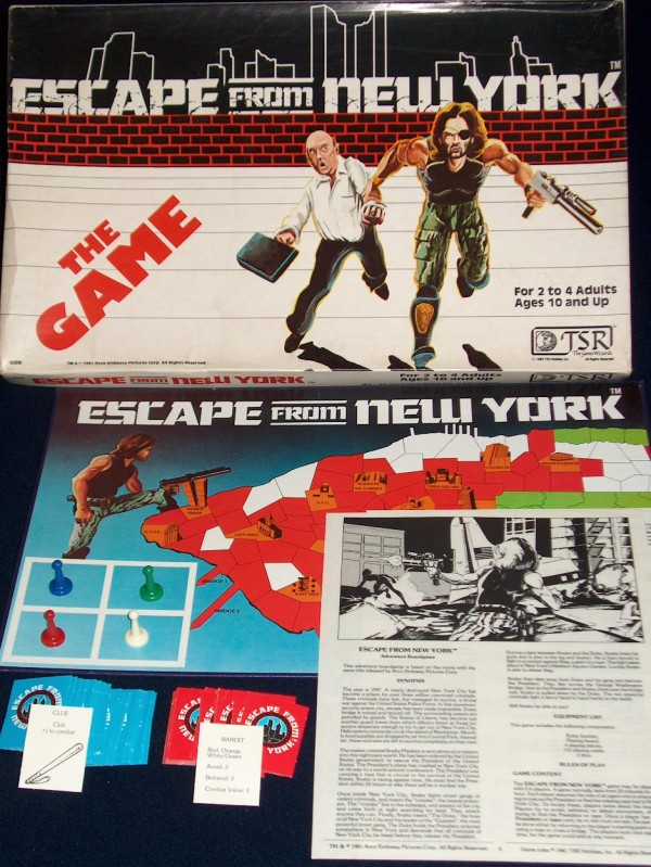 Escape From New York Boardgame