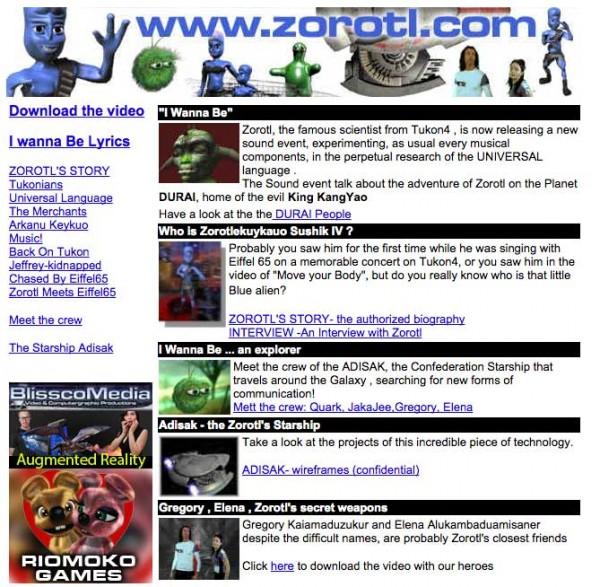 Blue - Zorotl - Webseite
