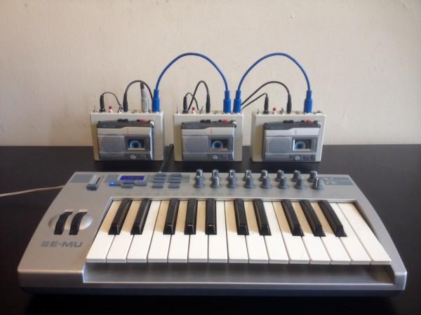 Midi Keyboard mit drei Crudmans