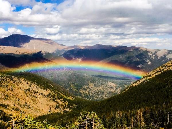 Regenbogen über Colorado
