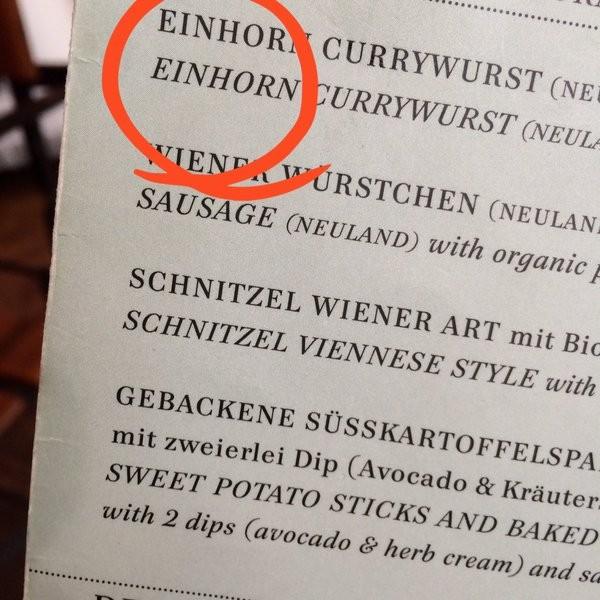 Einhorn-Currywurst