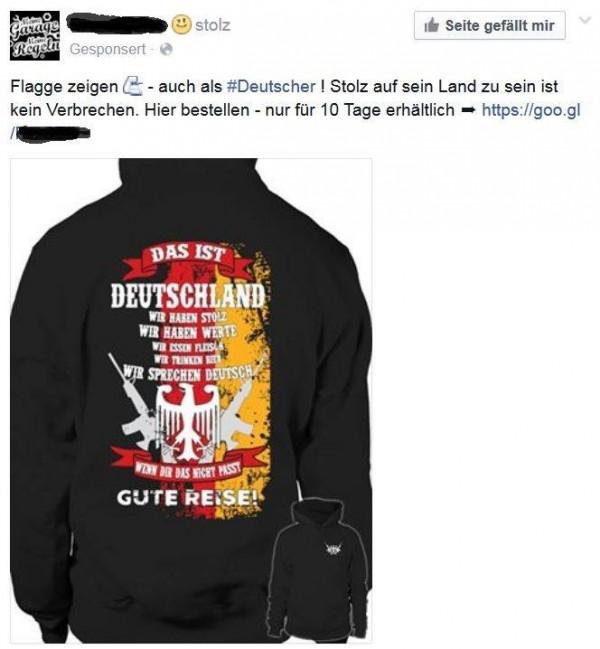 Nationalistische Kackscheiße auf Facebook