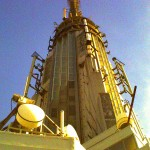 Die Spitze des Empire State Buildings