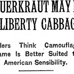 Sauerkraut is Liberty Cabbage
