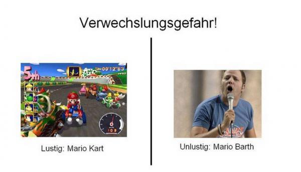 Mario Kart ist lustig, das andere nicht so!