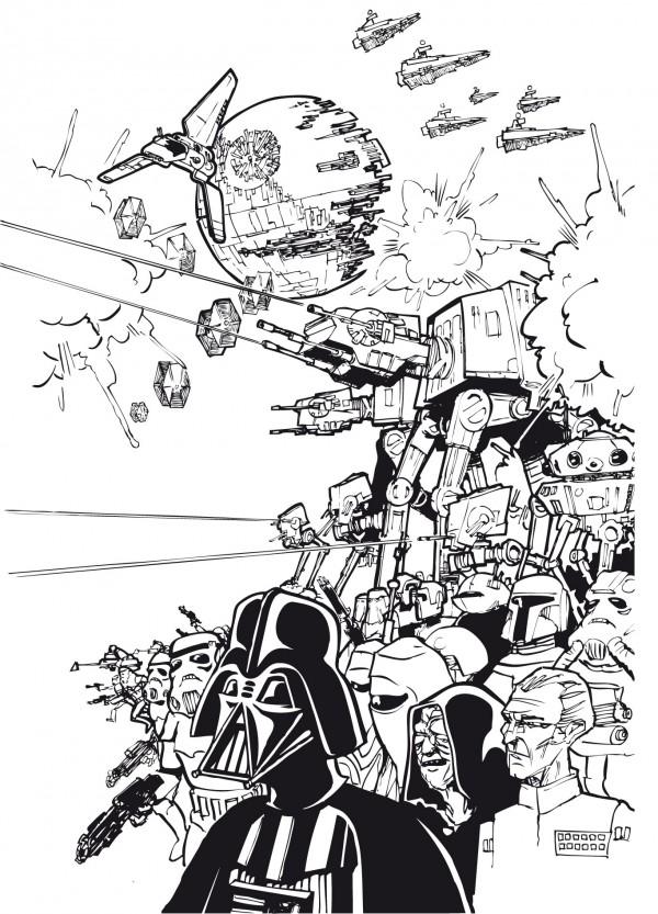 Star Wars Siebdruck by Bronco