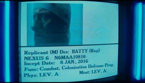 Incept Date Roy Batty