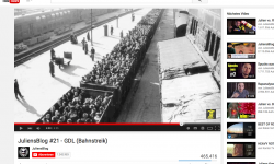 Screenshot aus Juliens Blog Bahnstreik Video