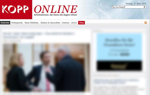 Undurchsichtig - Screenshot Kopp Online