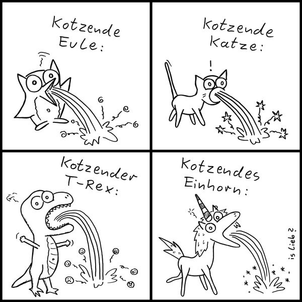Kotzendes Einhorn